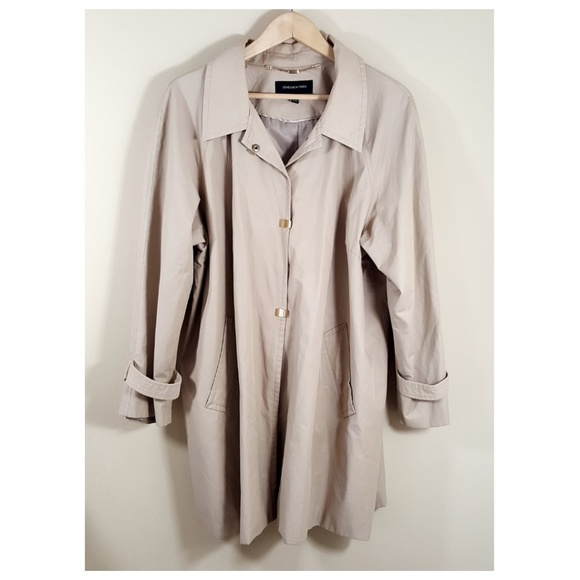 78cc36eb6af Jones New York Jackets   Blazers - Jones New York Plus Size Taupe Trench  Rain Coat